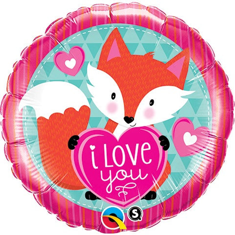 "Foil - 18"" - I Love You Fox (23459)"