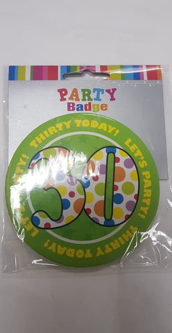 Badge - 30th (Large)