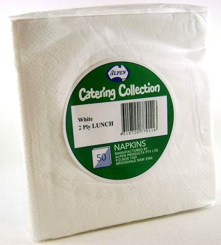Napkins - Lunch - White