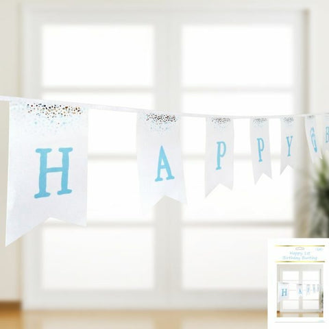 Bunting - Happy 1st Birthday (Blue) (A159088)