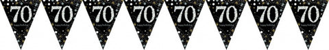 Flag Bunting - 70th (Black& Gold) (9901708)