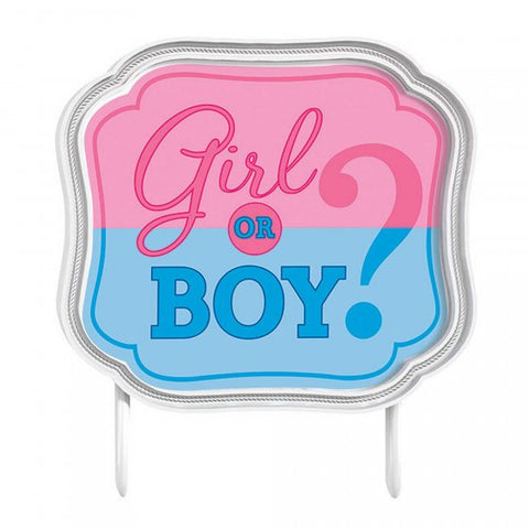 Cake Topper - Gender Reveal (Girl or Boy?) (141573)