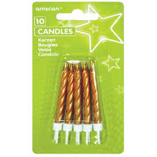 Candles - Pkt 10 - Gold or Silver