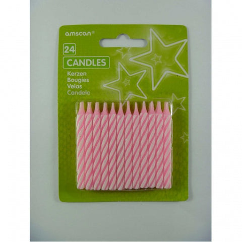 Candle - Pink Stripes (641540)