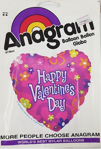 "Foil - 18"" - Happy Valentine's Day (6046)"