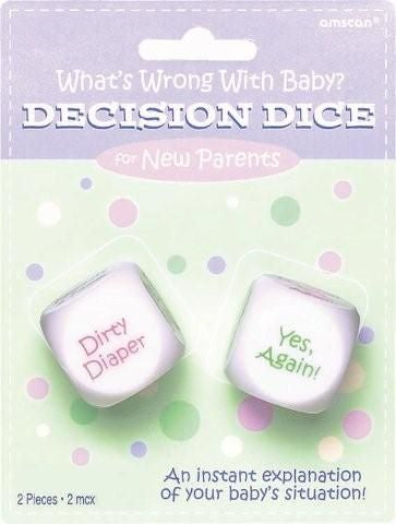 Decision Dice for New Parents - Baby Shower (382359)