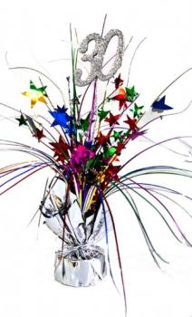 Spangle Centrepiece - 30th - Multicoloured (207315)