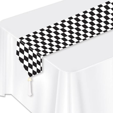Table Runner - Checkered (Black & White) (54100)