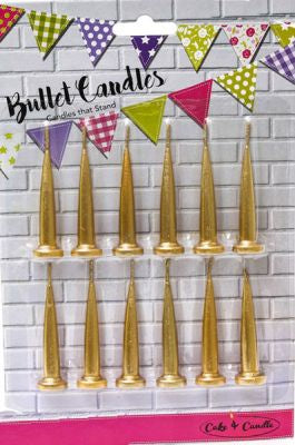 Bullet Candles - Gold
