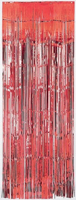 Door Curtain - Red