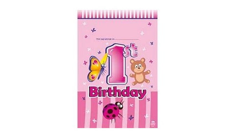 Loot Bags - 1st Birthday (Pink) (404886)
