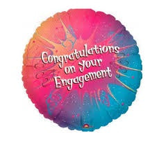 "Foil - 18"" - Congratulations on Your Engagement (04885)"