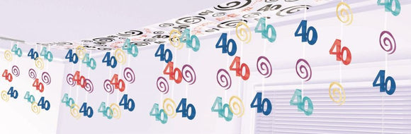 Ceiling Decorations - 40th