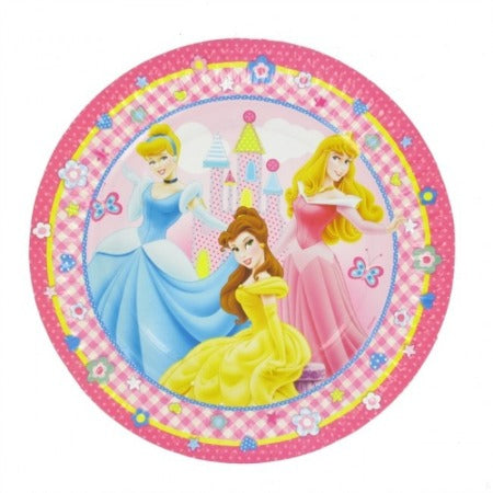 Plates - Dinner - Pkt 8 - Disney Princess