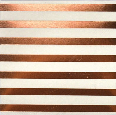Napkins - Pkt 10 - Rose Gold Stripes (E5017)