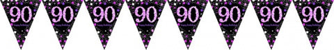 Flag Bunting - 90th (Pink & Black) (9901756)