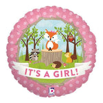 "Foil - 18"" - It's a Girl (Woodland) (36180)"