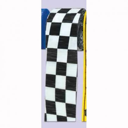 Streamer - Black & White Checkered (55397)