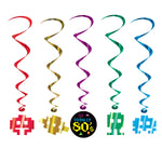 Hanging Swirl Decorations - 80s Icons Whirl (57573)
