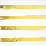 Napkins - Touch of Candy - White & Gold Stripes (329957)