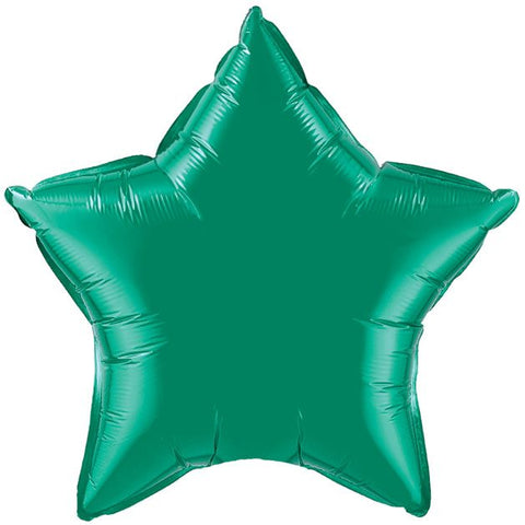 "Foil 20"" - Star - Emerald Green (99654)"
