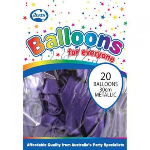 Balloons - Pkt 20 - Metallic Purple