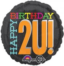 "Foil - 18"" - Happy Birthday 2U (26740)"