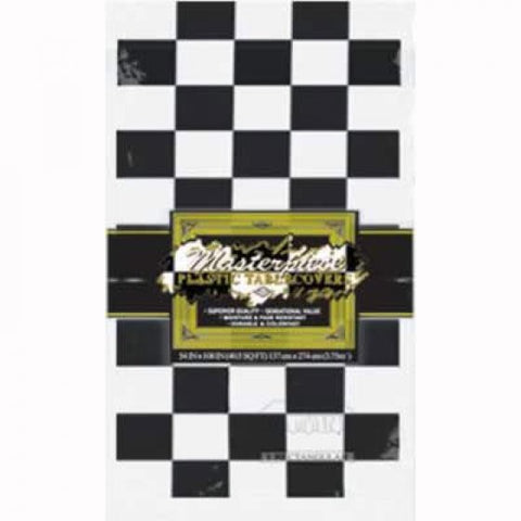 Tablecover - Paper - Black & White Checkered (010546405)