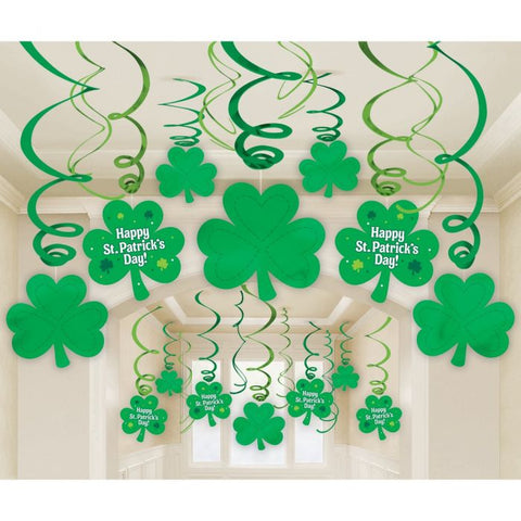 Hanging Swirl Decorations - Happy St Patrick's Day (679490)