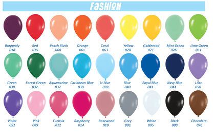 Individual Loose Balloons - Plain (Inflated)