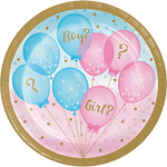 Plates - Lunch - Gender Reveal (Boy/Girl) (336065)