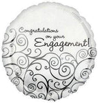 "Foil - 18"" - Congratulations on your engagement! (18019)"