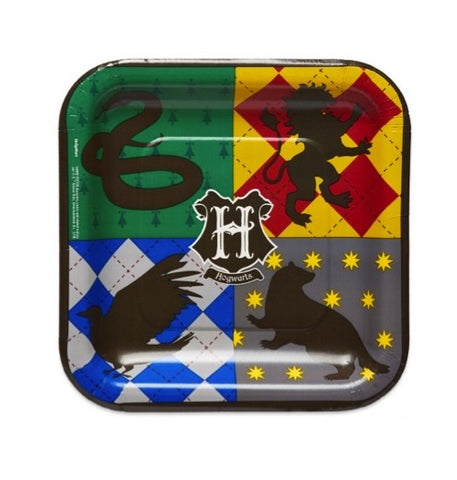"Plates - 7"" - Lunch - Harry Potter (Pkt 8) (541890)"