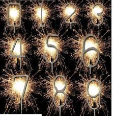Sparklers - Choose Numbers - 0, 1, 2, 3, 4, 5, 6, 7, 8, 9