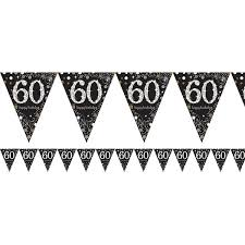 Flag Bunting - 60th (Black & Gold) (9900570)