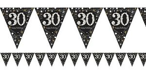 Flag Bunting - 30th (Gold & Black) (9900567)