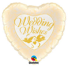 "Foil - 18"" - Wedding Wishes (48562)"