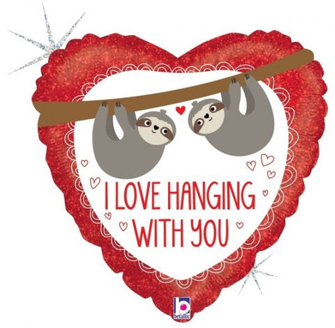 "Foil - 18"" - I love hanging with you! (36927)"