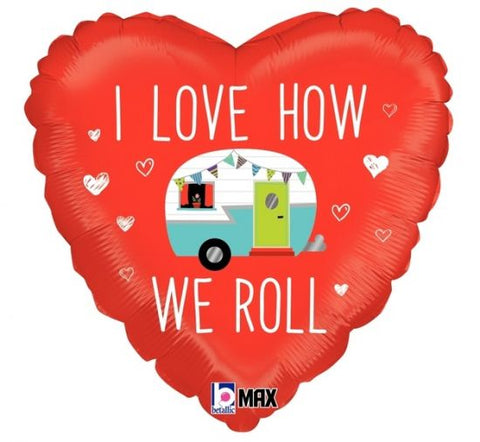 "Foil - 18"" - I love how we roll (36932)"