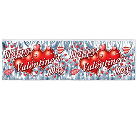 Metallic Fringe Banner - Happy Valentine's Day (77493)