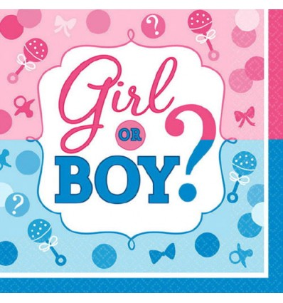 Napkins - Lunch - Girl or Boy (Gender Reveal) (511573)