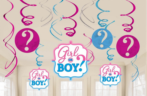 Swirl Decorations - Girl or Boy (Gender Reveal) (671573)