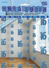 Hanging Decorations - 16th (Blue) (55331)