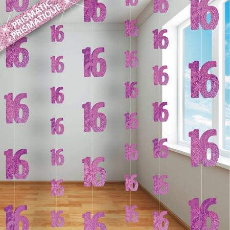 Hanging Decorations - 16th (Pink) (55321)