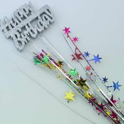 Foam Spangle - Happy Birthday - Multi-coloured
