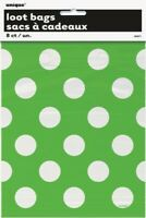Loot Bags - Green & White Spots (62071)
