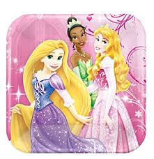 Lunch Square Plates - Pkt 8 - Disney Princess (545072)