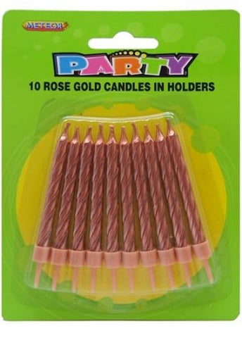 Candles - Rose Gold (Pkt 10) (MFCA-10RG)