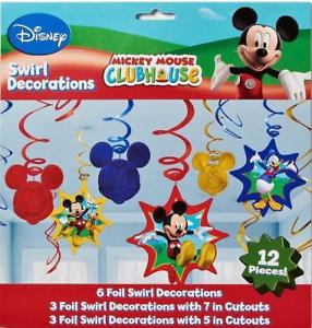 Swirl Decorations - Mickey Mouse Club