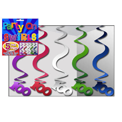 Swirl Decorations - 100th (nh100a)